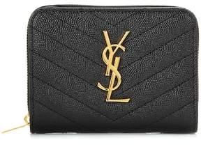 Saint Laurent Classic Monogram leather wallet - BLACK - STYLE