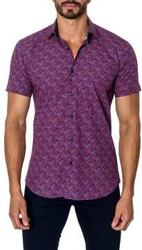 Jared Lang Woven Printed Trim Fit Shirt