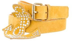 Sonia Rykiel Suede Rhinestone-Embellished Belt