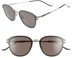 Christian Dior Men's 55Mm Wire Sunglasses - Metallic Silver/ Black