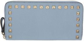 Valentino Blue Garavani Rockstud Continental Zip Wallet