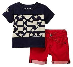 True Religion Indigo Tee & Shorts Set (Baby Boys)