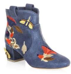 Laurence Dacade Belen Bagatelle Embroidered Leather Booties