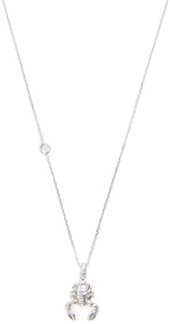 Elizabeth Showers Women's Silver & White Sapphire Scorpion Zodiac Necklace