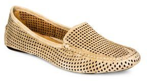Patricia Green Perforated Suede Loafers