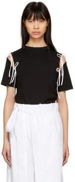 Facetasm SSENSE Exclusive Black and White Tie T-Shirt