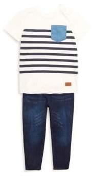 7 For All Mankind Baby's Two-Piece Top and Jeans Set