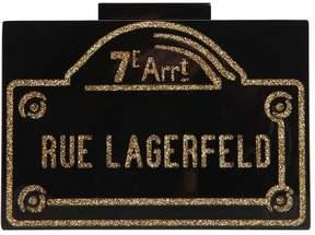 Rue Lagerfeld Pvc Box Clutch