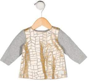 7 For All Mankind Girls' Patterned Long Sleeve Top w/ Tags