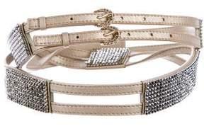 Swarovski Leather Embellished Belt
