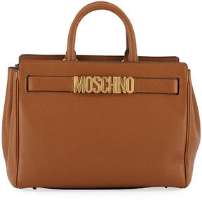 Moschino Pebbled Leather Satchel Bag
