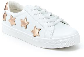 UNIONBAY Rose Gold & White Shooting Star Sneaker