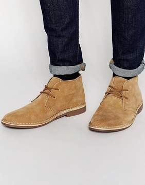 Red Tape Desert Boots Beige Suede