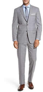 Hart Schaffner Marx Men's Classic Fit Windowpane Wool Suit