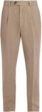 Brunello Cucinelli Slim-leg linen trousers