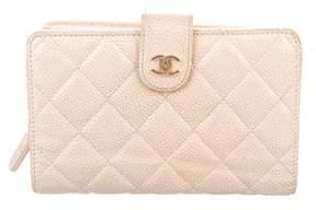 Chanel Caviar L-Zip Pocket Wallet