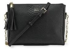 GiGi New York Personalized Hailey Embossed Python Leather Crossbody Bag