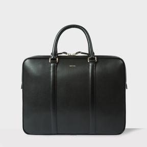 Paul Smith Men's Black 'City Embossed' Leather Slim Business Folio