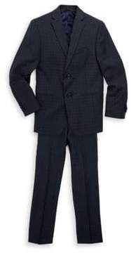 Michael Kors Boy's Two-Piece Wool Check Suit