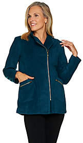 Bob Mackie Bob Mackie's Fleece Jacket with Pockets andZipper Detail