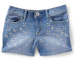 Jessica Simpson Big Girls 7-16 Fleur De Lis Kiss Me Denim Shorts