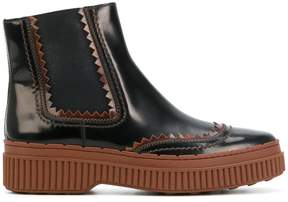 Tod's flatform chelsea boots