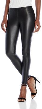 Plush Faux Leather Fleece-Lined Leggings