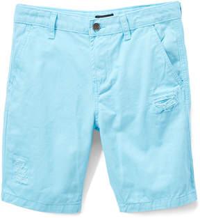 DKNY Petit Blue Flat Front Shorts - Boys