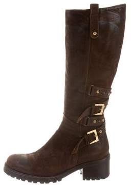 Cesare Paciotti Embellished Buckle Knee-High Boots
