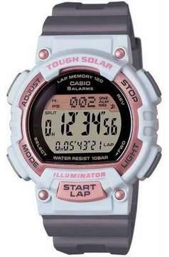 Casio Women's Solar Runner Watch, White/Grey