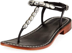 Bernardo Tristan Studded Flat Sandals, Black