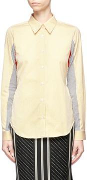 Aalto Panelled stripe shirt