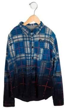 John Galliano Boys' Ombré News Print Shirt