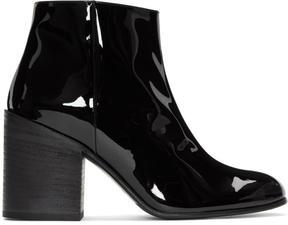 Acne Studios Black Patent Beth Boots