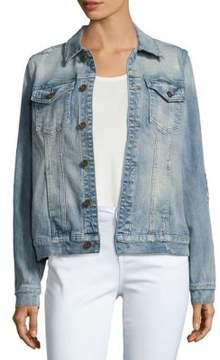 Driftwood Long-Sleeve Denim Jacket