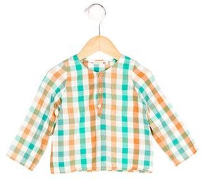 Bonpoint Boys' Checkered Long Sleeve Shirt