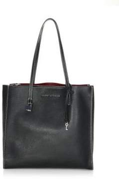 Marc Jacobs The Grind Leather Tote - BLACK - STYLE