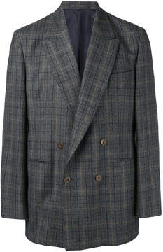 E. Tautz checked double-breasted blazer
