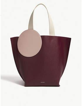 Roksanda Bordeaux Eider Leather Panel Tote Bag