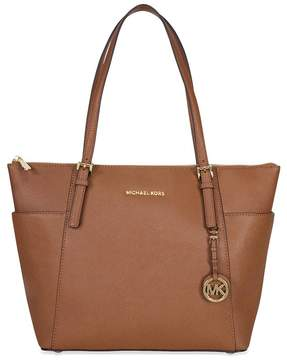 Michael Kors Open Box Jet Set Top-Zip Saffiano Leather Tote in Luggage - Large - ONE COLOR - STYLE