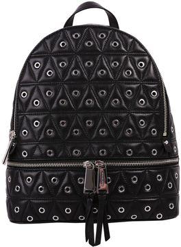 MICHAEL Michael Kors Rhea Leather Backpack - BLACK - STYLE