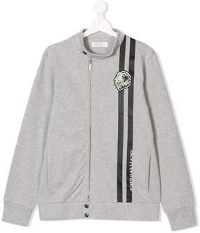John Galliano Teen logo stripe zip sweatshirt