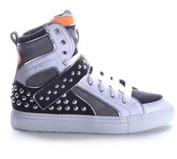 DSQUARED2 Men's Multicolor Leather Hi Top Sneakers.
