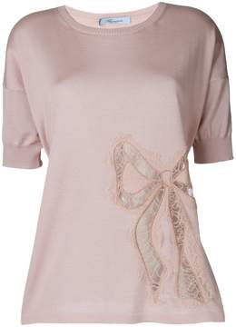 Blumarine bow detail knitted top