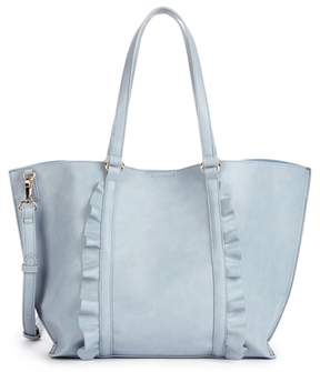 Sole Society Adelina Ruffled Faux Leather Tote
