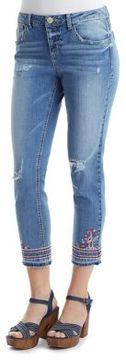 Democracy Slim-Fit Distressed Jeans