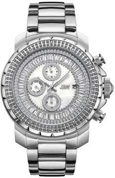 JBW Men's Titus 12-Diamond Silvertone Stainless Steel Bracelet Watch