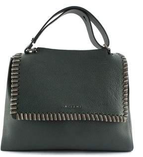 Orciani Green Leather Sveva Medium Bag.