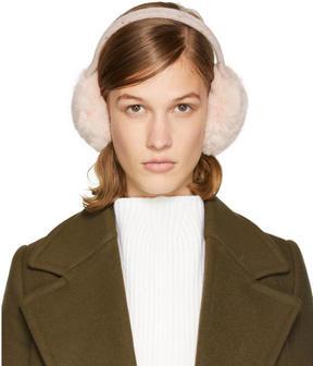 Yves Salomon Pink Fur Earmuffs