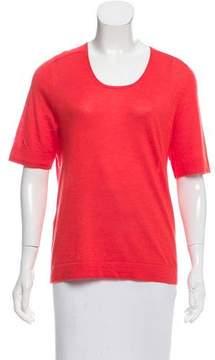 Calvin Klein Collection Silk-Cashmere Short Sleeve Sweater